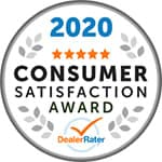 Dealerrater award 2020 consumer satisfaction